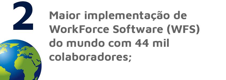 Maior implementação de WorkForce Software (WFS) do mundo com 44 mil colaboradores
